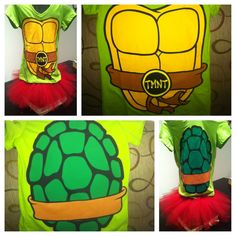 Cute tmnt costume with tutu I so need this for my MIL's halloween party