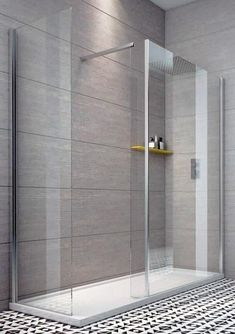 Indi 1800 x 700 Walk in Shower Enclosure inc Tray and Waste - - Walk In Showers - Shower Enclosures - Aquabliss Glass Corner Shower, Corner Shower Doors, Walk In Shower Tray, Shower Trays, Shower Cabin, Modern Bathroom, Small Bathroom, Bathroom Ideas, Bathroom Things
