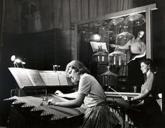 Students in rehearsal for Harry Partch's production of King Oedipus, 1952. Courtesy of Special Collections, F. W. Olin