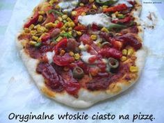 Rozpustne gotowanie: Oryginalne włoskie ciasto na pizzę. Bento, Vegetable Pizza, Donuts, Food Porn, Easy Meals, Food And Drink, Bread, Cooking, Aromatherapy