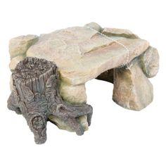 All Living Things® Rock Cave w/ Tree Trunk  - PetSmart
