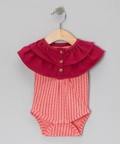 Red Heart Organic Yoke Bodysuit