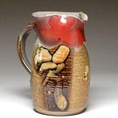 Pottery pitcher-Mangum Pottery