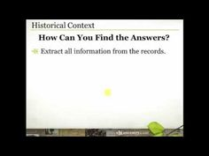 Putting Your Ancestors' Lives in Historical Context - When you understand what was happening in the your ancestors' world, it helps you to understand them better. Understanding them better often leads to additional records that help grow your family tree. Join Crista Cowan as she shares some of her favorite resources for historical research.
