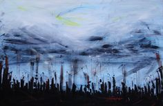 """Francesca Candito ; Oil, 2011, Painting """"A look to the sky"""""""