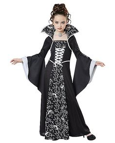 Renaissance Costume Medieval Renaissance Kid'S Queen Of Princess Dress Outfit Gothic Vampire Cosplay Medieval Dress White XL – Dress Home Scarlet Witch Halloween Costume, Buy Halloween Costumes, Halloween 2019, Halloween Cosplay, Halloween Dresses For Girls, Gowns For Girls, Girls Vampire Costume, Vampire Girls, Gothic Vampire
