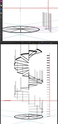 Spiral Stair Perspective Exercise