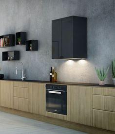 Mantica sort, RørosHetta Living Spaces, Kitchen Cabinets, Dining Room, Kitchens, Home Decor, Little Cottages, Coat Racks, Kitchen Cupboards, Dinner Room