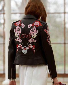 18 Wedding Jackets For Every Bridal Style ❤ wedding jackets black leather with floral stickers temperleylondon #weddingforward #wedding #bride