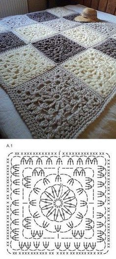 33 Patrons de Crochet pour Couvertures | Crochet et plus…                                                                                                                                                     Más