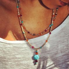 Beautiful+Double+Strand+Gold+Colorful+by+uniquebeadingbyme+on+Etsy,+$26.00