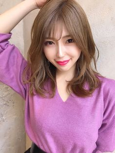 【2019年春】ミディアムの髪型・ヘアアレンジ|人気順|24ページ目|ホットペッパービューティー ヘアスタイル・ヘアカタログ Kawaii Hairstyles, Girl Hairstyles, Japanese Beauty, Asian Beauty, Medium Hair Styles, Short Hair Styles, Hear Style, Kawaii Faces, Hair Arrange
