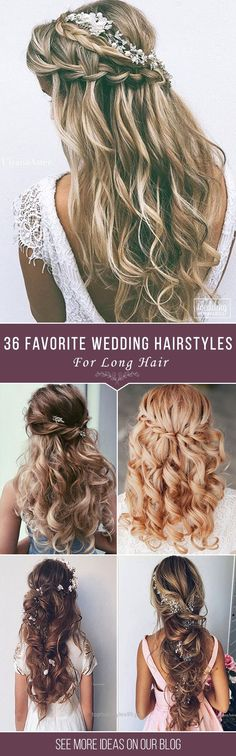 Look Over This 36 Our Favorite Wedding Hairstyles For Long Hair   We make a list our favorite wedding hairstyles for long hair. Look through it and pick your perfect variant to become the most beautiful bride. See more: www.weddingforwar… #weddings #hairstyles #updos  The post  3 ..