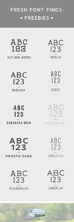 Fresh Font Finds: 10 Free Fonts