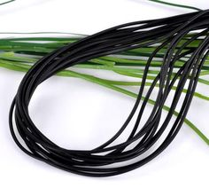 """4x10M Free Shipping Black New Round Rubber Jewelry Cord 2mm(1/8"""") Dia."""