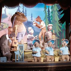 Country Bear Jamboree...There. Was. B--lood on the water.  And. B--lood all around.  And a great. Big. Puddle. Of b--lood on the ground.  What a horrible song for a kid to remember!!