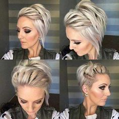 Kurze Haare - Long Undercut Pixie - Perfectly Imperfect Messy Braids for Short Hair - Photos - Wallpaper Pinme Short Hair Styles Easy, Braids For Short Hair, Short Hair Cuts, Messy Braids, Short Pixie, Pixie Cuts, Asymmetrical Pixie, Asymmetrical Haircuts, Thin Fine Hair Styles