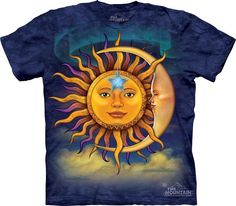 woman's plus size t-shirt, sun, stonewashed, multicolored, sun, moon, & star size 4xl, brand new 100% preshrunk cotton