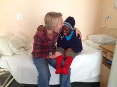 Dr Sarah or Dr shoOops! with 72 year old Rosie, patient at Western Cape Rehabilitation Centre. The photo says it all