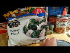 This is the basic formula for making reasonably tasty and cheap dinners from Dollar Tree, Dollar General, or other discount food outlets. Cheap Meals To Make, Cheap Dinners, Food To Make, 30 Minute Meals, 3 Things, Dollar Tree, Easy Dinner Recipes, Family Meals, Food Videos