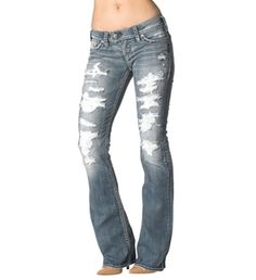 New with tags machine jeans ripped distressed destroyed bootcut ...