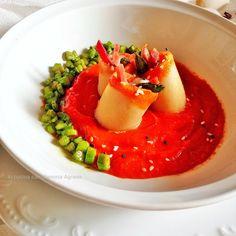 In Cucina con Mamma Agnese: Umbria in Fiore - Paccheri con crema di mozzarella...