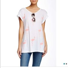 Wildfox Pack Of Flamingo Hippie Crew Tee 100% cotton. Brand new. Never worn. Perfect condition. This shirt is adorable! Wildfox never fails. Don't miss out on this deal  Wildfox Tops