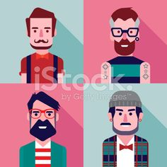 Hipster character design royalty-free stock vector art