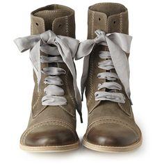 UNGER Fashion - Brunello Cucinelli Shoes Leder-Schnürschuh Braun NEW... ❤ liked on Polyvore