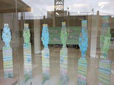 Tāwera Tahuri & Charlotte Graham Collaboration Pou Kōhine Mixed Media on Acrylic 2014 Maori Art, Art Education, New Art, New Zealand, Sculpture, Graham, Color, Inspiration, Collaboration