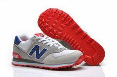 Running shoes New Balance 574 Mens Grey / Blue-White
