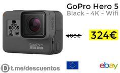 Cámara GoPro Hero 5 Black  4K  Wifi por 324 - http://ift.tt/2wQpBnx