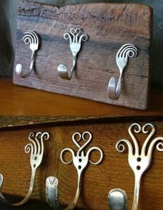 DIY Crafts: Creative Decorations Using Forks. Ideas to make some creative decorations by upgrading and reusing forks beautifully. #DIY #decor #ideas