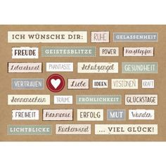 Ich wünsche dir:/Bild1 Birthday Design, Happy New, Happy B Day, Birthday Cards, Birthday Greetings, Birthday Quotes, Birthday Wishes, Good Advice, Happy Moments