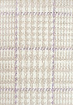 Marina Check Upholstery Fabric A large scale cotton houndstooth check in stone, ivory and lavender. Suitable for domestic and contract upholstery and soft furnishings.