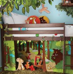 A must have if your child loves the Gruffalo story! Izziwotnot The Gruffalo Playhouse Curtains