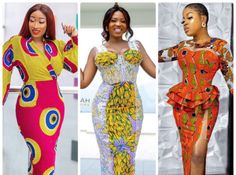 Enjoy These Ankara Stylish Designs – Excellent Gowns for the Fashion Ladies. Ankara Short Gown, Ankara Gown Styles, Short Gowns, Ankara Gowns, Ankara Dress, African Fashion Dresses, Ankara Fashion, Peplum Gown, Latest Aso Ebi Styles