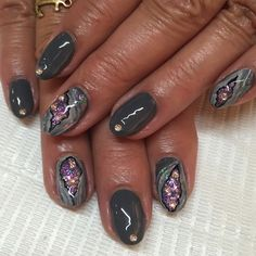 gorgeous amethyst geode inspired nails