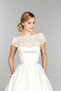 A-Line/Princess Off-the-shoulder Court Train Taffeta wedding dress - IZIDRESSES.com at IZIDRESSES.com