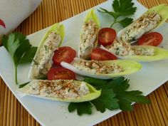 Cheese-Filled Endive Appetizer   Beautiful on Raw