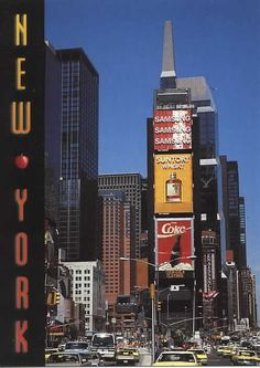 Vintage Times Square postcard from the NYC.  Times Square looks nothing like it did back when this photo was taken.  #vintage #NYC #New York