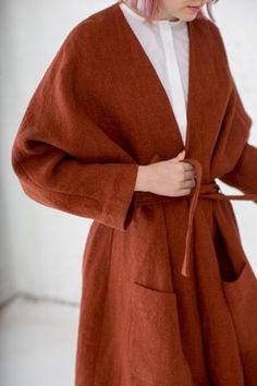 Samuji Como Coat in Orange | Oroboro Store | Brooklyn, New York