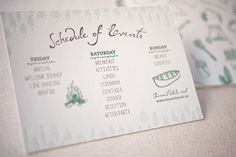 Summer Camp Wedding Invitations by Gus & Ruby Letterpress | gusandruby.com (featured on Oh So Beautiful Paper)