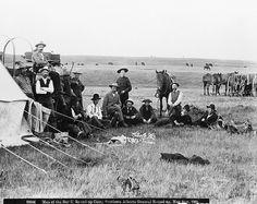 Bar U Ranch cowboys, general round-up, southern Alberta.    Date: May 31, 1901
