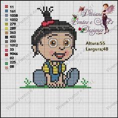 Agnes Despicable Me perler bead pattern