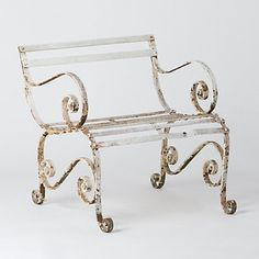 Weathered Regency Chair - white paint and rust