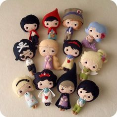 Fairy Tale Dolls pdf Patterns - so cute!