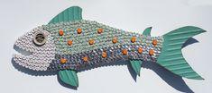 Bottle Cap Fish Mosaic No. 51, 2010