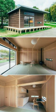 The Cork Hut: one of three tiny houses that will be available for sale from Japanese retailer, MUJI, next year (How To Build A Shed Shipping Containers) Tiny House Cabin, Tiny House Living, Tiny House Plans, Tiny House Design, Small Space Gardening, Building A Shed, Shed Plans, Little Houses, Future House