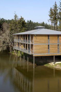 Domaine de Cicé Blossac Resort et Spa, Golf, Bruz (France) de l'Atelier Loyer & Brosset  #VMZINC #wood #france #architecture #zinc #roofing #quartz-zinc